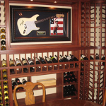 1054 Bottle Capacity Mahogany Custom Wine Racks with Cellarmate Ducted Refrigeration System