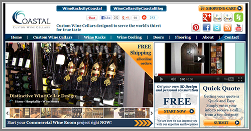 WINE CELLARS BY COASTAL - a Reputable California Wine Cellar Manufacturer