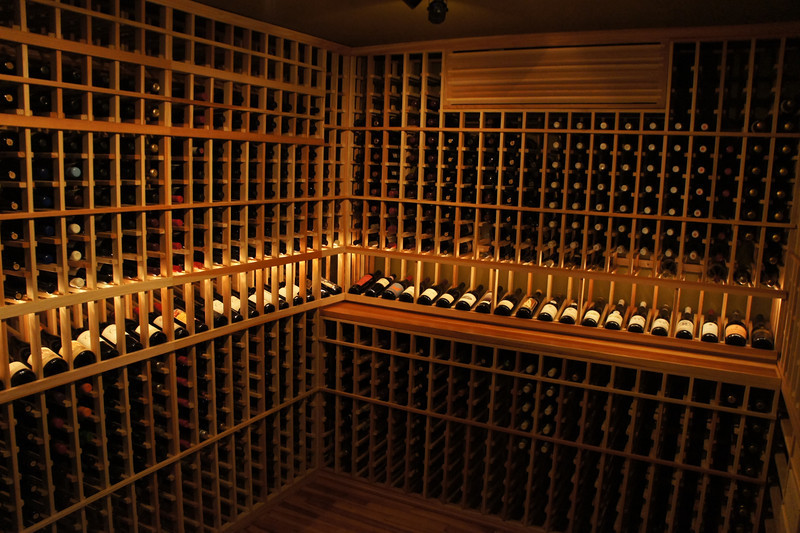 Wooden Home Wine Cellar in California