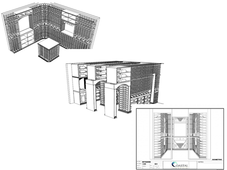 Wine Cellar Construction Designs by Coastal