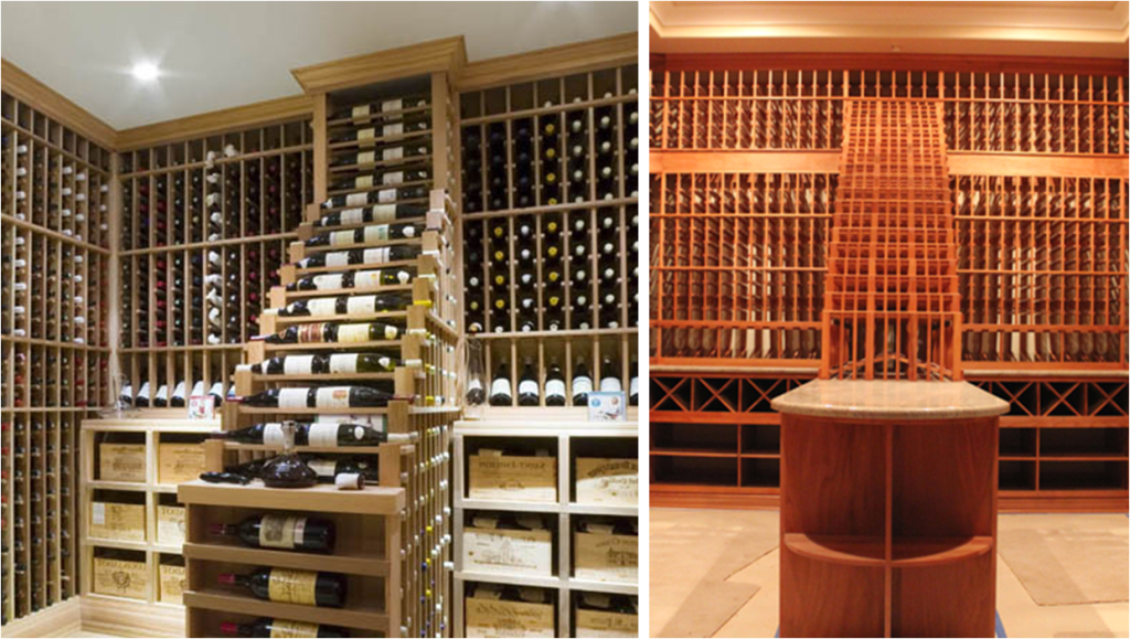 waterfall wine displays