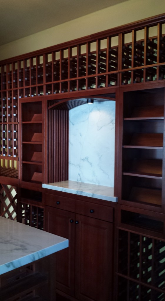 Irvine Binder California wine cellar installation Lattice Arch