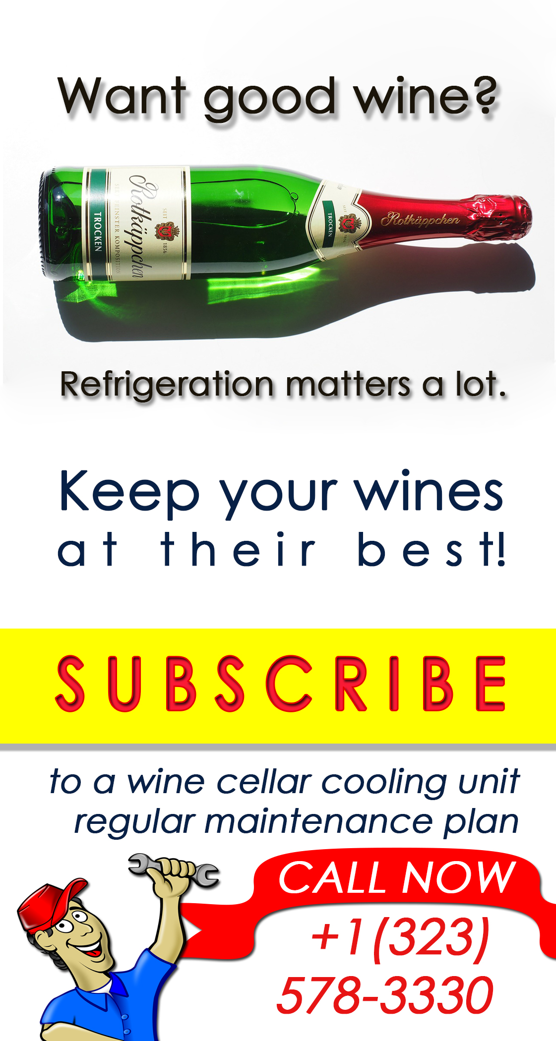 One of the many services that M&M Cellar Systems offers is cooling unit maintenance. Through this service, you can be sure that your refrigeration system is always functioning properly to keep your wines in their best quality. Click here to know more about their services!